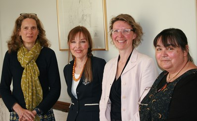 Angela Krauß and Margret Vince with Godela Weiss-Sussex and Heike Bartel (Photograph H.Bartel)